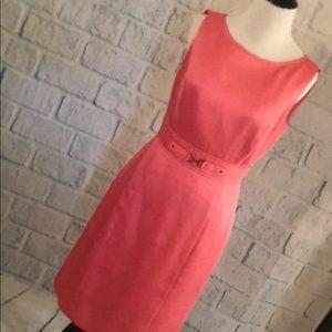 Tahari - Coral/Pink Sleeveless Dress